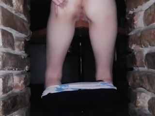 Fucking the table in public helps pussy to become very wet