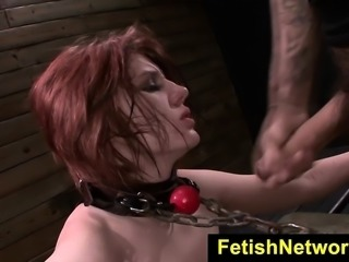 FetishNetwork Velma DeArmond rope tied