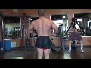 Muscle Marine Bodybuilder Flexing