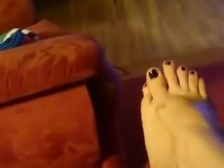 sexy feet milf Tanja with black polish