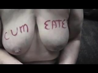 My slut cum eater