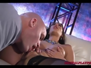 Intense pussy licking, orgasms, sloppy deepthroat face fuck
