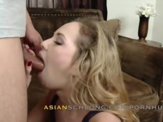 Asian Guy Jerremy Long Creampies White Girl Angel Smalls AMWF AMXF