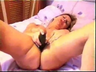 A MILF on the bed