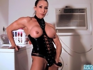 Denise Masino - House Boy Training Video - Female Bodybuilder