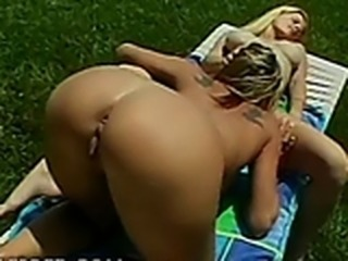 Sadie, Kaya Tasty Blonde Whores Lick Cunt Outside Fingering Girl On Girl Oral...