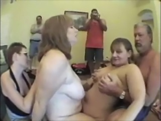 BBW Hippy chick and other BBW's on Sybian
