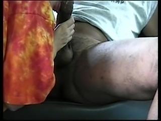 Sucking my black man in the van
