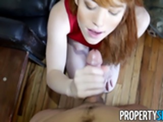PropertySex - Redhead real estate agent gets sexual with client