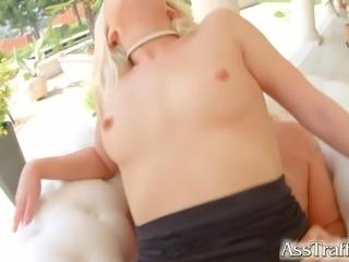 AssTraffic Brand new model gets her ass fucked for the