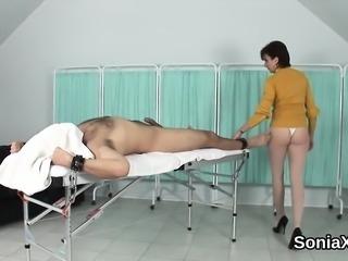 Adulterous british mature lady sonia displays her massive pu