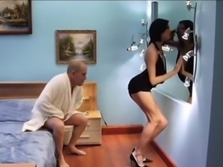 Skinny hooker for old man