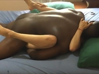 Good slut wife milf getting bbc cuck missionary