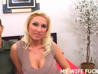 Watch your wife riding a big pornstar cock