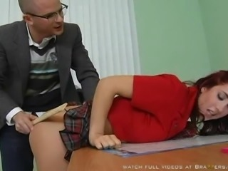 Redhead Student Given a Lesson By The Substitute Teacher