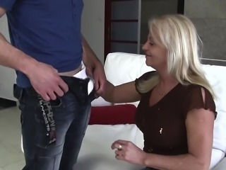 old & young - grandma blackmailed for smoking by grandson