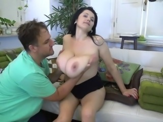 Nadiya has an enormous pair of boobs and likes to be touched