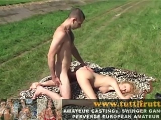summer amateur casting with hot MILF