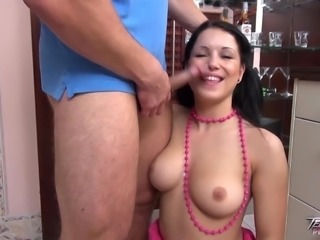 Raven haired Flexi Teen takes hard Anal and Loves it.