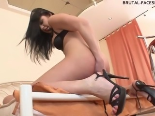 Femdom ass worship is hottest with the Russian mistress