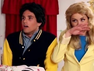 BJ & BF Caught by MILF Aunt Fucky Threesome Full Holes Parody Scene 3