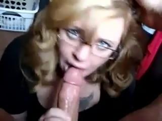 Girlfriend POV blowjob with facial