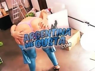 BIG ASS Latina Big Tits Big Cameltoe Pussy In Tight Spandex