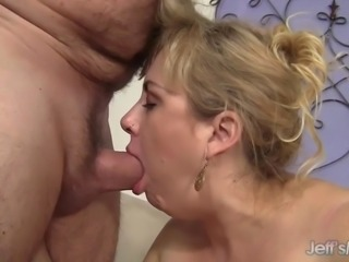 Big titted plumper gets her big boobs sucked and licked and she sucks her...