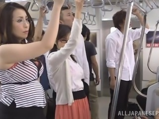 Fantastic Asian Brunettes Share A Big Dick In A Public Bus