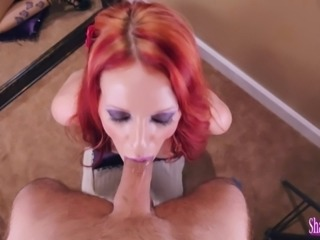 Kinky Milf Shanda Fay Sucks Cock for Facial!