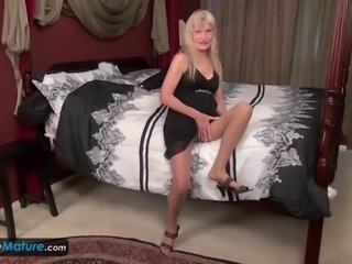 Blonde grannies have never enough of pleasure they are masturbating alone...