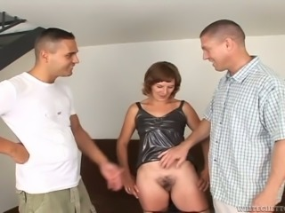 Horny light haired cougar rides big fresh penis in reverse cowgirl pose