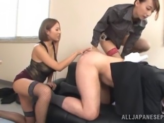 Pretty Asian bimbo in fishnet stockings getting hammered hardcore in reality...