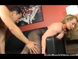 Slave snaps fingers and turns muscle goddess BrandiMae into a fuck doll...