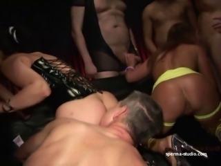 Cum Orgy Pervers - Tekohas and Mariska - P1