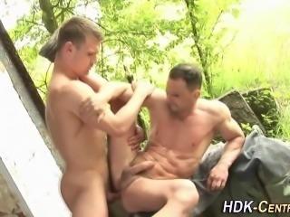 Raw ass spunked outdoors