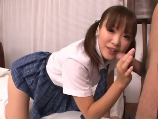 a blowjob from asian college girl momoka rin