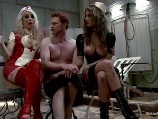 Felony and Lorelei Lee Make Machine Fuck Guy in Femdom Bondage video