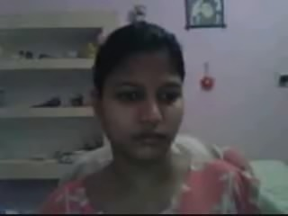 hot indian busty babe on webcam starts off with her big tit omegle