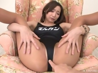 Beautiful Japanese babe, Claire Hasumi, with great booty turned him...