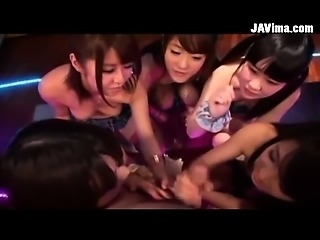 Group Of Sexy Japanese Teen Girls