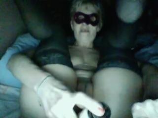 Mature slut, solo webcam show with anal dildo