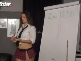 Perverted lesbian girlfriends in sexy short kilt skirts masturbate pussies