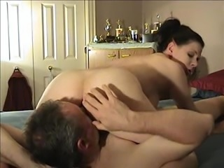 Passionate couple enjoy a hot 69 pose pussy licking action