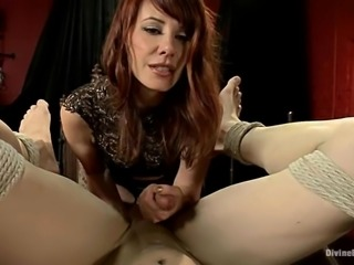A lot of pain caused by a sexy mistress Maitresse madeline