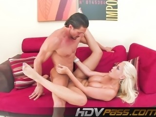 Big Tit Blonde Babe Bridgette Fuck a Big Cock Cum on Tit