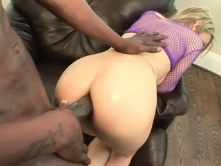 Holly Wellin chokes on his thick dick and then gets her ass slammed