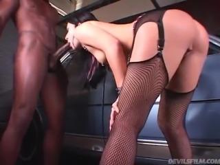 A Big Black Cock For The Kinky Brunette Renee Pornero
