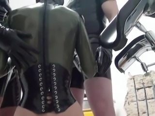 Slave fucked by 2 big cocks