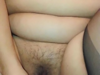 Chubby Asian Squirts Four Times in One Minute
